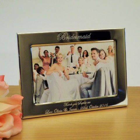 Bridesmaid, Maid of Honour Photo Frame Personalised Wedding Gift